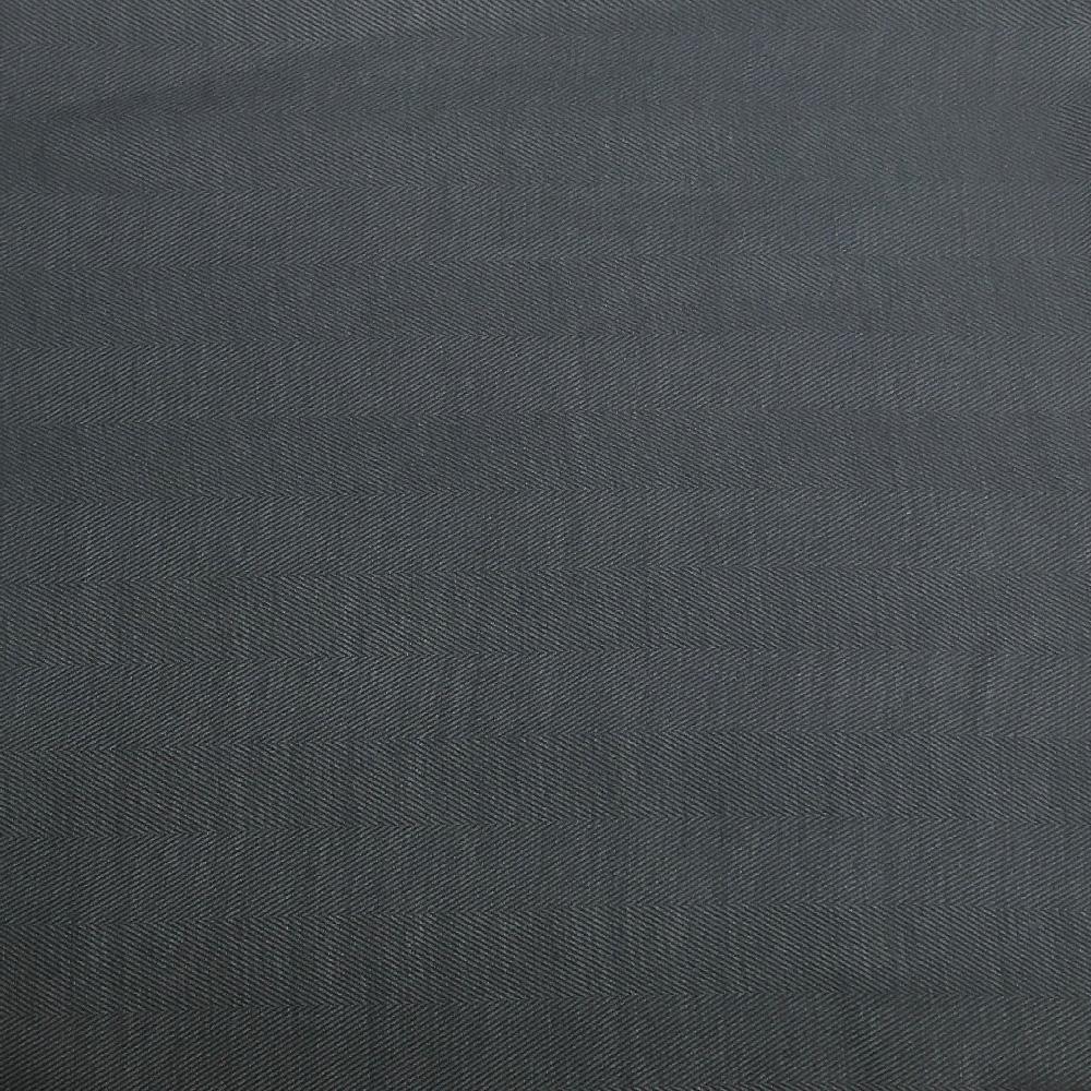 coupon de tissu pilou tissage chevron bleu gris u00e9 et noir 3m x 1 50m